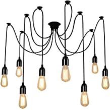 ONEVER E27 Loft Antiguo candelabro Moderno Chic Industrial comedor luz Ajustable DIY techo araña luz lámpara