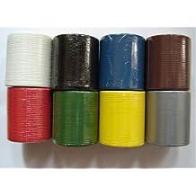 SupaDec impermeable cinta de tela de 48mm x 4,5m verde/negro/azul/marrón/rojo, marrón, 48mm x 4.5m