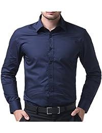 PaulJones Chemise Homme Shirt Slim Fit Manche Longue Coupe Parfaite Business 3d0295fbb35