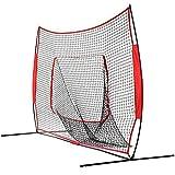 Baseball Praxis net 7x7 Fuß Faltbares Baseball-Übungsnetz Tragbares, leichtes Softball-Netz, das den Ball wie ein Trampolin abprallt Baseball Wimper Praxis net ( Farbe : Rot , Größe : 213x213cm )