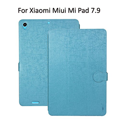 Heartly Premium Luxury PU Leather Flip Stand Back Case Cover For Xiaomi Miui Mi Pad 7.9 - Power Blue