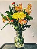 YKCKSD Puzzle de 1000 Piezas para Adultos, Rompecabezas Rompecabezas clásico Juguete de Madera, decoración para el hogar, decoración para el hogar, Regalo,Amarillo Naranja Peruano