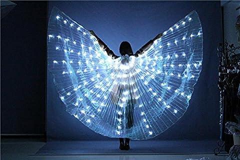 Wgwioo Frauen Led Licht Bauchtanz Mehrfarbig Isis Flügel 360 Grad