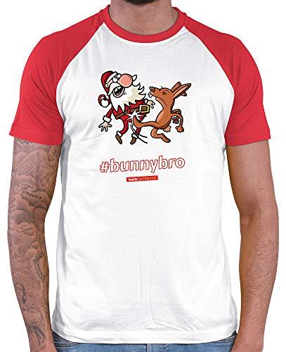 HARIZ  Herren Baseball Shirt Pixbros Bunnybro Xmas -