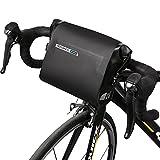 Roswheel Schwarz Wasserdicht 3L Fahrrad Lenkertasche Fahrrad Kopf Tasche Verstellbare Tasche Satteltasche PVC Schlauch Tasche Vorne Top Rahmen Tasche für Fahrrad, Berg, Outdoor-Sportarten