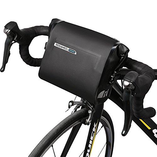 Roswheel nero impermeabile 3L bag regolabile, manubrio della bicicletta bag Bike Head bag PVC tubo anteriore telaio superiore borsa per bici, montagna, sport all' aperto