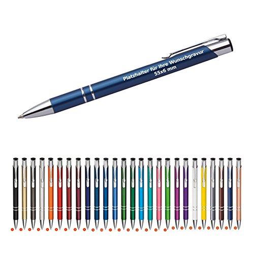 Kugelschreiber mit Gravur 'Cosima' 100 Stück Metallkugelschreiber Werbeartikel Kulli inkl Logo...