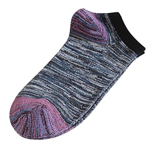 Sansee Unisex Cute Retro Streifen Mode Männer Socken Bequeme Socken Strümpfe Sneakersocken Sportsocken Stoppersocken Strumpfhosen Skisocken Strapsstrümpfe (Schwarz, Größe: 24-28cm (ungefähr))