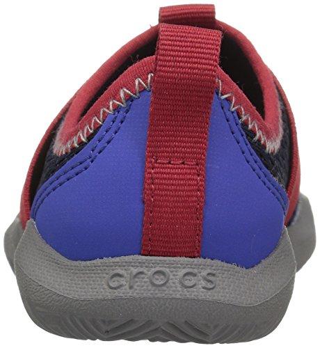 Crocs 204022, Chaussures à Lacets Oxford Mixte Enfant Bleu (Navy Pepper)