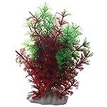 SODIAL(R) Artificial Fish Tank Water Tropical Plastic Aquarium Plants Ornament Green Decor 6