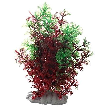 SODIAL(R) Artificial Fish Tank Water Tropical Plastic Aquarium Plants Ornament Green Decor 1