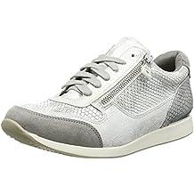 La Strada Silver Snake Leather Look Sneaker - Zapatillas Mujer
