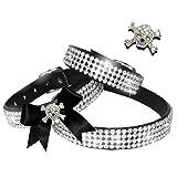 XXS Monster Chihuahua Strass Halsband Hunde Halsband