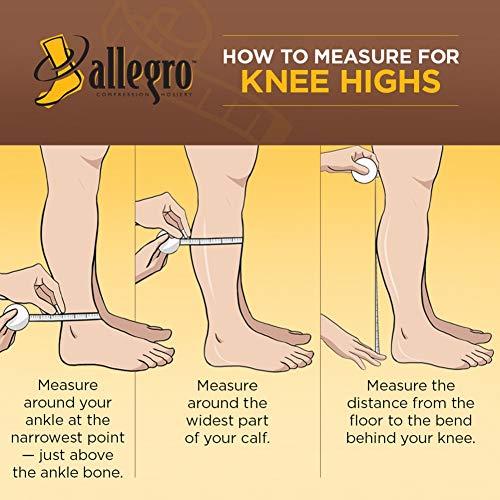 28a1a11c5a Allegro Surgical Knee High 20-30mmHg - #200 (XXX-Large Wide Calf