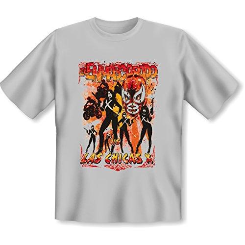Biker - Damen und Herren T-Shirt mit dem Motiv: Las chicas X Größe: Farbe: grau - von van Petersen Shirts Grau