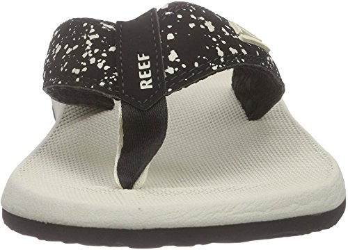Reef Phantom Prints, Flip-flop homme Noir (Black Splatter)