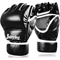 Xinluying Guantes Boxeo MMA Sparring Muay Thai Guantes Saco de Boxeo Combate Entrenamiento Vendaje Mano Mujer Hombre