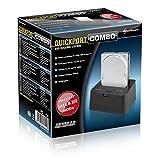 Sharkoon QuickPort Combo - HDD Dockingstation für IDE und SATA Festplatten, USB 2.0 Vergleich