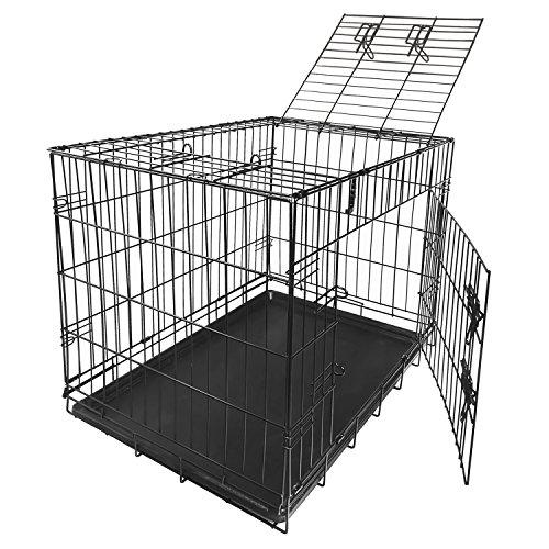 Nemaxx Transportbox Transportkäfig Drahtkäfig Klappbar Hundebox Hundekäfig Käfig Größe M in Schwarz