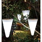 Yosoo 1pieza colorido Solar al aire libre jardín colgante árbol corneta cono LED luces lámparas