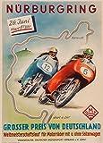 Vintage Motorrad-Poster