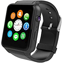 Smartwatch android Uhr Phone watch - Yarrashop Support SIM Watch Phone for Android Samsung Galaxy S3/S4/S5/Note2/Note3/Note4 HTC Sony LG Xiaomi Huawei ZUK and iPhone 5/5C/5S/6/6S schwarz