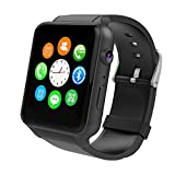 Yarrashop Smartwatch Android Uhr Phone Watch Support SIM mit Kamera Schrittzähler Schlaftracker Romte Capture for Android Samsung IOS