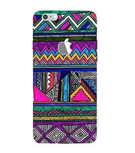 Fuson Designer Phone Back Case Cover Apple iPhone 7 Plus (Logo View Window Case) ( Vividly Colorful Aztech Print )