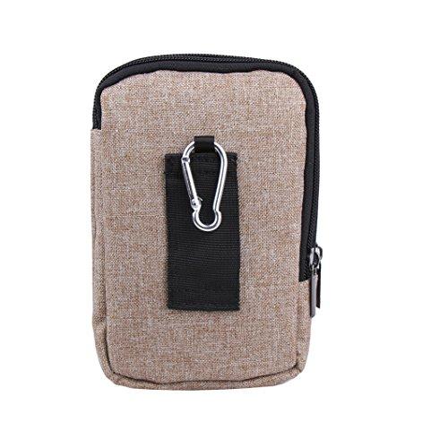 Genda 2Archer Leinwand Gürteltasche Gürtel Geld Handy-Tasche Reisetasche Bum Hüfttaschen (Grün) Beige