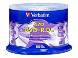 Verbatim DVD + R DL 8,5GB 8x 50PK–blanko DVDs (DVD + R DL, Spindel)