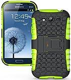 Heartly Armor Rugged Back Case For Samsung Galaxy Grand Duos I9082 / Galaxy Grand Neo Gt-I9060 / Galaxy Grand Neo Plus I9060I - Green