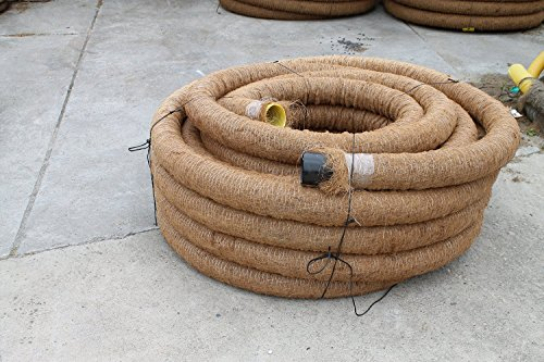 50 m Drainagerohr DN 65 gelocht mit Kokosfilter, Kokos ummantelt