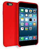 MyGadget Coque Silicone pour Apple iPhone 6 / 6s - Toucher Doux - Ultra Fin & léger - Housse Protection No Scratch Case Anti Choc et Rayures - Rouge