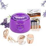 Machine à cire violette 500ml + cire à la lavande haricot 300G + 5 bâtonnets(Violet)