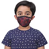 Wildcraft SUPERMASK W95 Plus Reusable Outdoor Respirator with neckband for Kids Small (PACK OF 3, SUBLIPRINT : RED_TRIZI…