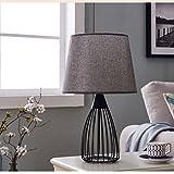 CXZS Nachttischlampe Creative Wohnzimmer skandinavischen Stil Lampe (Farbe : Schwarz, größe : B)