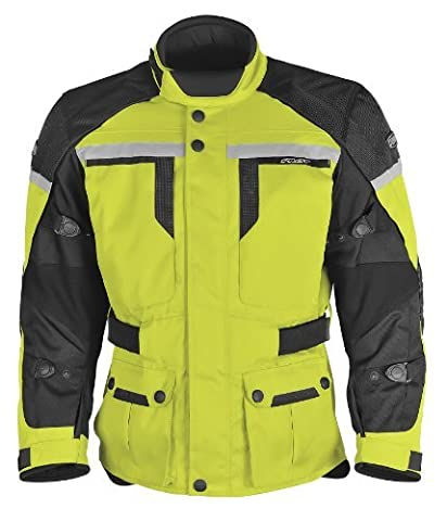 Pilot Men's Trans.Urban Motorcycle Touring Jacket (Hi-Vis/Black, X-Large) by Pilot