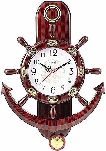 Fieesta Analog 24 cm Dia Wall Clock (Red, With Glass)