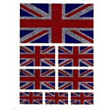 Drapeaux Angleterre Royaume-Uni Racing Tuning Autocollant Dimensions 13,5 x 10 cm