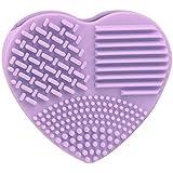fulla2116almohadilla de silicona limpiador de brochas de maquillaje en forma de corazón