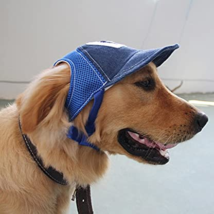 BEAUTOP Dog Baseball Sport Cap Hat - Outdoor Hat Sun Protection Cap for Small Medium Large Dog (Optional Size,Color) 5