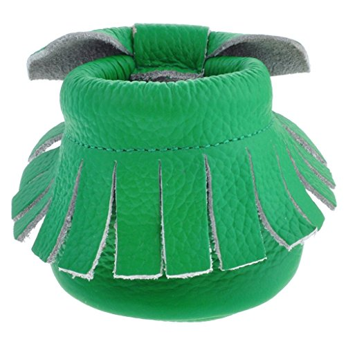 Sayoyo tassel arc chaussures de bébé en cuir souple chaussures semelle douce Vert