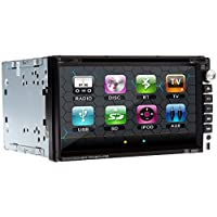 Universal 17,65 cm 2din in-dash-coche reproductor CD MP3 DVD receptor AV con Bluetooth, FM, iPod, Radio rds