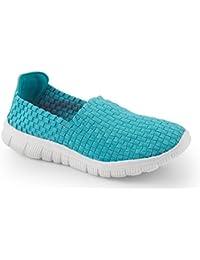 Ideal Shoes - Baskets tressées Regine