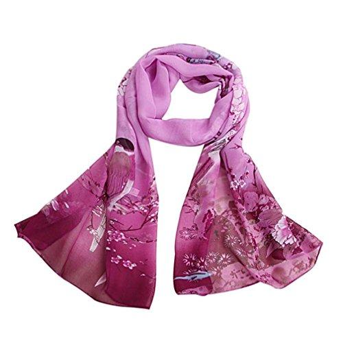 Bufandas para Mujer,Xinan Bufandas Gasa Suave Mantón Cuello Grande (Púrpura)