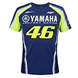 Valentino Rossi VR46 Moto GP M1 Yamaha Factory Racing Team T-shirt Offiziell 2018-Large 110cm/43in Chest-Blue