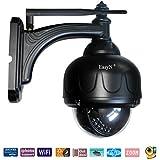 EasyN Caméra de surveillance WiFi étanche avec Optik Zoom Digital 3, Vision de nuit par infrarouge