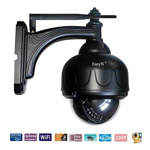 Preisvergleich Produktbild Easyn Wasserdicht PTZ Wifi IP-Überwachungskamera CCTV-Überwachungskamera mit dem dreifachen Optik Zoom 3 Digital Zoom IR-Nachtsicht
