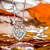 Dancing Heart Schwan Liebe Kette Damen Herz Silber 925 Schmuck weihnachten weihnachtsgeschenk geschenke frauen geburtstagsgeschenke valentinstag valentinstagsgeschenk muttertagsgeschenk muttertag mama -
