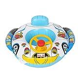 Anello di Nuoto della Sede di Automobile, Cerchio Gonfiabile Nuotatore della Barca Galleggiante di Nuoto del PVC con il Volante per Bambini